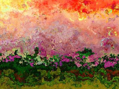 Digital Art - Meadow Morning by Wendy J St Christopher