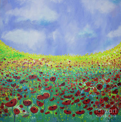 Painting - Meadow Of Poppies  by Stacey Zimmerman