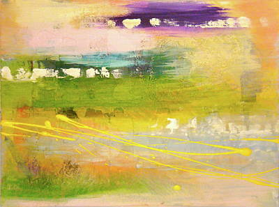 Mystical Landscape Painting - Meadow Of The Heart by Melody Dawn Germain