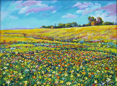 Meadow Of The Quilted Lilies Art Print by Richard Knox