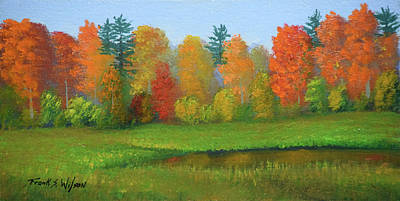 Painting - Meadow Pond In Autumn by Frank Wilson