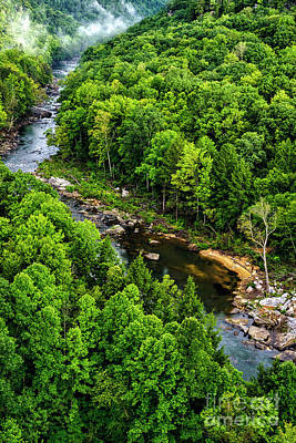 Photograph - Meadow River Aerial by Thomas R Fletcher