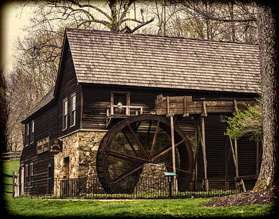Michie Tavern Photograph - Meadow Run Grist Mill by B Wayne Mullins