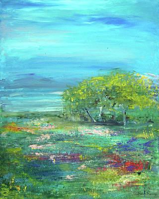 Meadow Trees Art Print
