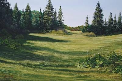 Sarasota Artist Painting - Meadow Walk by Alan Zawacki