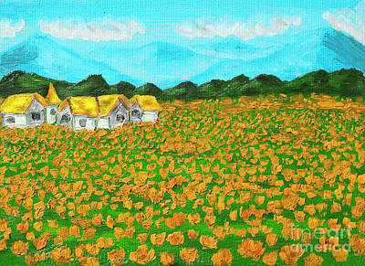 Painting - Meadow With Orange Poppies, Oil Painting by Irina Afonskaya