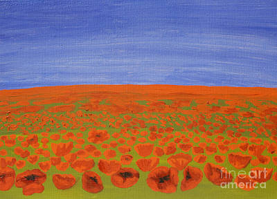 Painting - Meadow With Red Poppies, Oil Painting by Irina Afonskaya