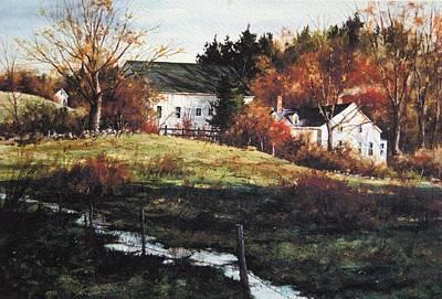 Brrok Painting - Farm Creek by Gary Shepard