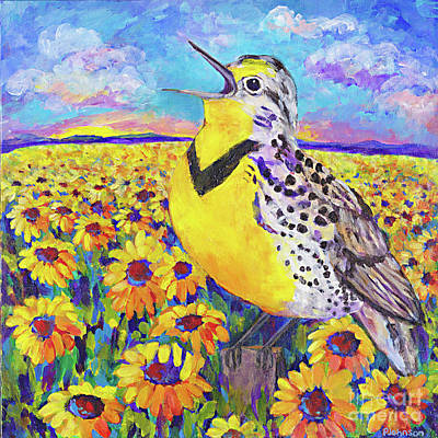 Meadowlark Song By Peggy Johnson Original
