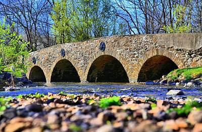 Art Print featuring the photograph Meadows Road Bridge by DJ Florek