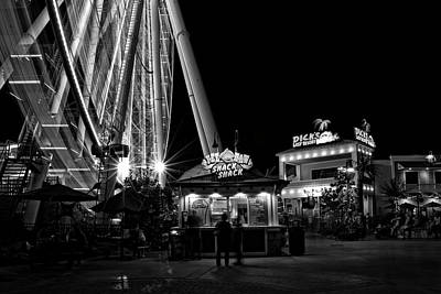 Photograph - Meals And A Wheel In Black And White by Greg and Chrystal Mimbs