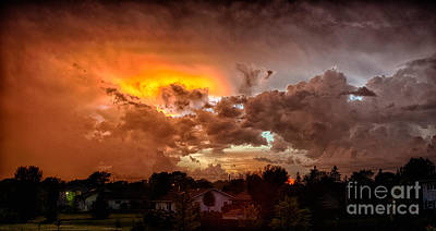 Photograph - Mean Skies From Off My Deck  by Ricky L Jones