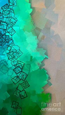 Abstract Digital Art Photograph - Meander - Abstract Tiles No15.825 Narrow by Jason Freedman