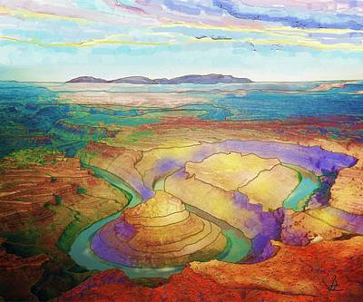 Digital Art - Meander Canyon by Victor Shelley