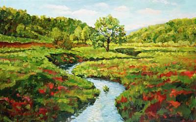 Painting - Meandering Creek by Ingrid Dohm