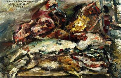 Painting - Meat And Fish At Hiller Berlin 1923 by Corinth Lovis