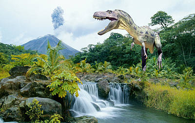 Dinosaur Photograph - Meat Eater On The Prowl by Buddy Mays