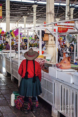 Photograph - Meat Market In Cusco by Olivier Steiner