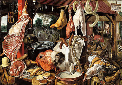 Photograph - Meat Stall  by Pieter Aertsen