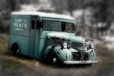 Meat Truck Art Print by Gray  Artus