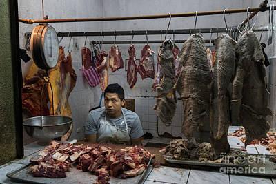 Nighttime Street Photography - Meat Vender Santiago Atitlan by Dan Hartford