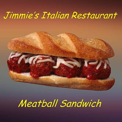 Meatball Sandwich Customized  Art Print by Movie Poster Prints
