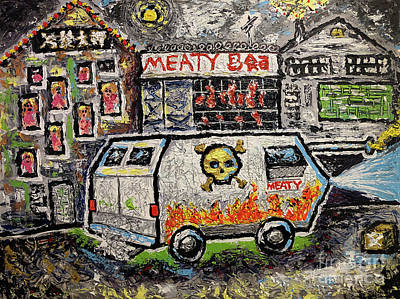 Painting - Meaty by Joe Bloch
