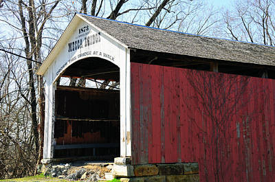 Photograph - Mecca Covered Bridge by David Arment