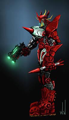 Robot Digital Art - Mechaman M by Winston Wesley Art