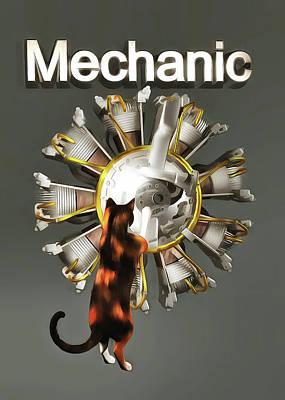 Painting - Mechanic by Jan Keteleer
