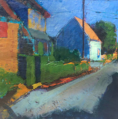 Encaustic Painting - Mechanic Street, Provincetown by Marc Kundmann