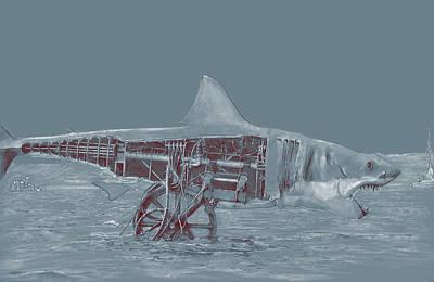 Digital Art - Mechanical Bruce by Kurt Ramschissel