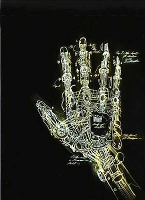 Mechanical Hand Art Print by Ralph Nixon Jr