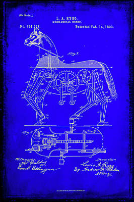 Newton Mixed Media - Mechanical Horse Patent Art 1b           by Brian Reaves