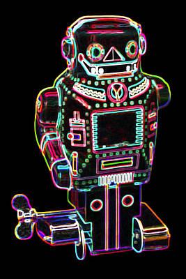 Popart Pop Art Digital Art - Mechanical Mighty Sparking Robot by DB Artist