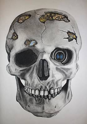 Drawing - Mechanical Memento Mori by Andy Jeter