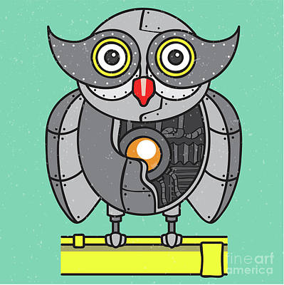 Mechanical Owl Artwork Print by Jorgo Photography - Wall Art Gallery