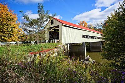 Wine Photograph - Mechanicsville Covered Bridge by Marcia Colelli
