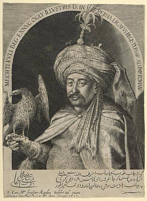 Prague Drawing - Mechti Kuli Beg Persian Ambassador To Prague by Aegidius Sadeler