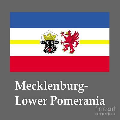 Mecklenburg-lower Pomerania, Germany Flag And Name Original