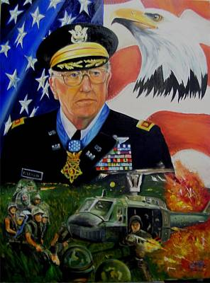 Painting - Medal Of Honor Viet Nam by Ken Pridgeon