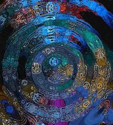 Alika Wall Art - Digital Art - Medallion Batik by Alika Kumar