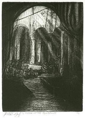Copy Mixed Media - Medea After Rembrandt by Katherine Gaff