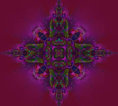 Digital Art - Medellion 2 by Nancy Pauling