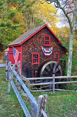 Photograph - Medfield Kingsbury Grist Mill by Juergen Roth