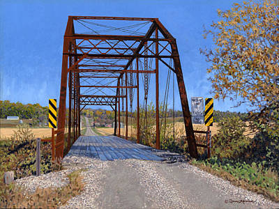 Painting - Medford Avenue Bridge by Bruce Morrison