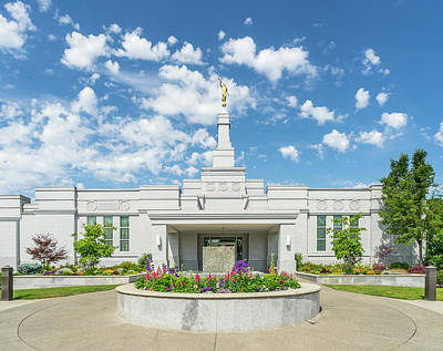 Photograph - Medford Temple Front by Denise Bird