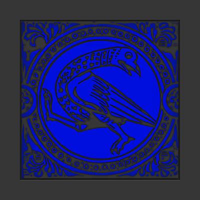 Mediaeval Bird Revision - Blue Print by Li   van Saathoff