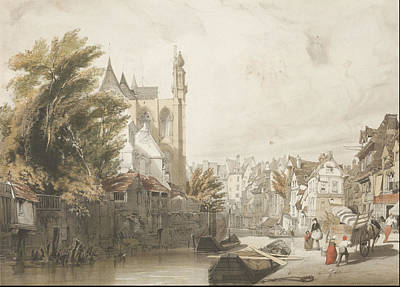 Small Lonely Painting - Mediaval City by Thomas Shotter Boys