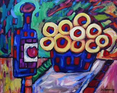 Painting - Medicinal Marigolds And Wine by Dianne Connolly